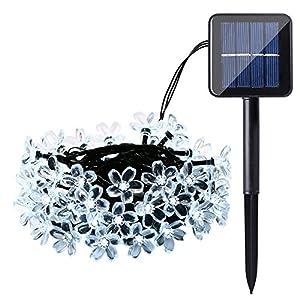 Qedertek Cherry Blossom Solar String Lights 23ft 50 Led