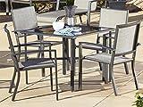 Cheap Cosco Outdoor 5 Piece Serene Ridge Aluminum Patio Dining Set, Dark Brown