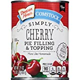 Comstock Simply Pie Filling & Topping, Cherry, 21 Ounce (Pack of 8)