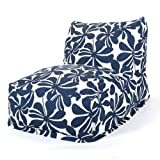 Majestic Home Goods Navy Blue Plantation Bean Bag Chair Lounger