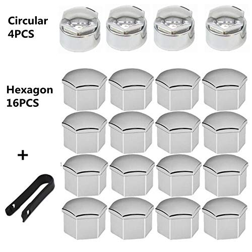 2019 20pcs 22mm Wheel Nuts Bolt Cover Caps Wheel Nut Protector For Land Rover VAUXHALL Insignia Tyre Wheel Hub Covers FJiuJin