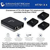 Grandstream HT701 ATA Single FXS phone port voice/data HandyTone, BUNDLE of 4