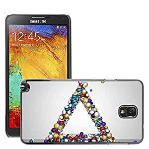 Hot Style Cell Phone PC Hard Case Cover // M00043970 balls triangle 3d artistic // Samsung Galaxy Note 3