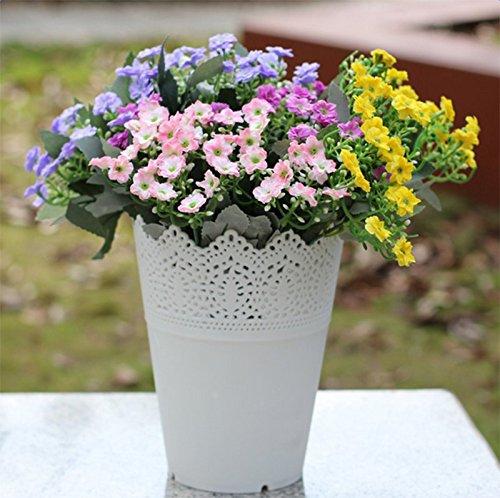 lumanuby 5 unidades - Cesta O lápiz soporte veranstalter o plástico macetas redondo para flores Arrangement para casa boda hotel Oficina Decoración, ...
