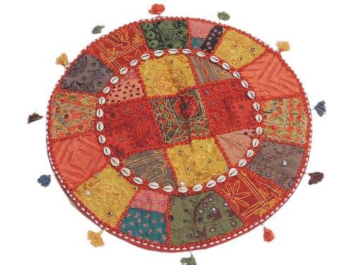 Bohemian Embroidered Banjara Patchwork Large Round Floor Sea