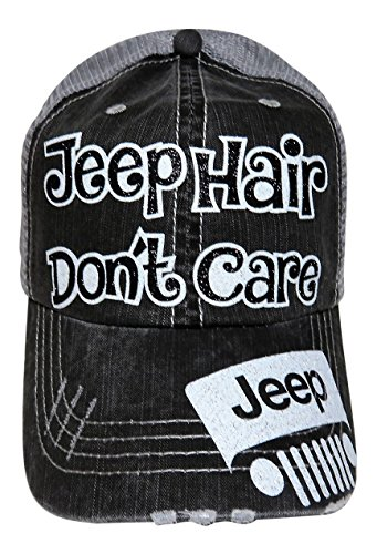 glitter-jeep-hair-dont-care-distressed-look-grey-trucker-cap-hat-black-and-white-glitter