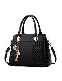 IBFUN Women Handbags Top Handle Bags PU Leather Shoulder Bags Satchels Tote Bags Ladies Purses