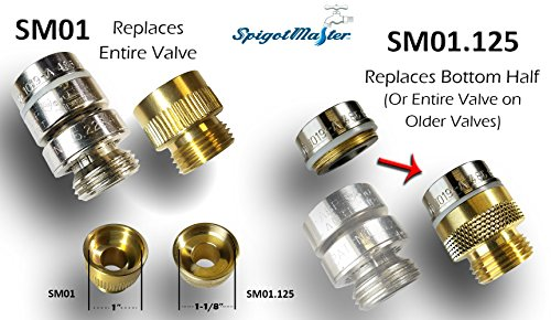 2-Pack: SpigotMaster ~SM01 Vacuum Breaker Adapter~ Converts an Arrowhead PK1390 Anti-Siphon Valve Into a Straight Through Connection by Spigotmaster (Image #1)