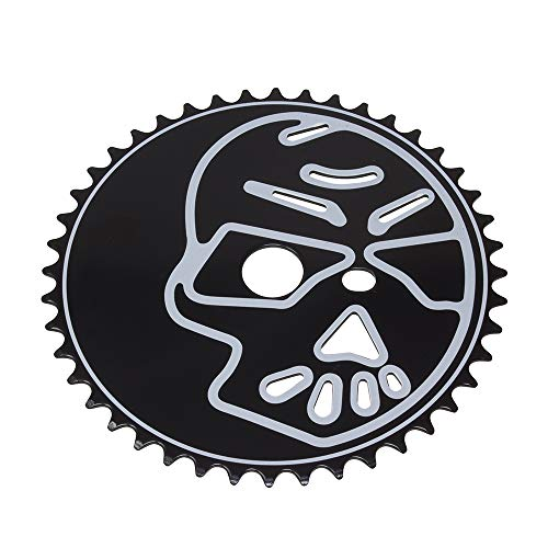 - Fenix Skull Head Bike Sprocket/Chainring, 44T 1/2 X 1/8 Black/White