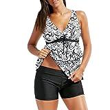 Women Plus Size Bikini Set Boho Swimwear Push-Up Padded Bra Swimsuit