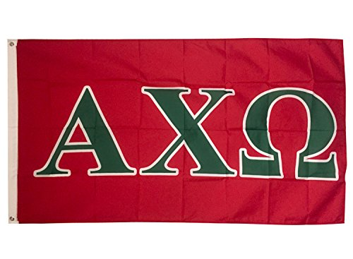 Alpha Chi Omega Letter Sorority Flag Greek Letter Use as a Banner Large 3 x 5 Feet Sign Decor AXO