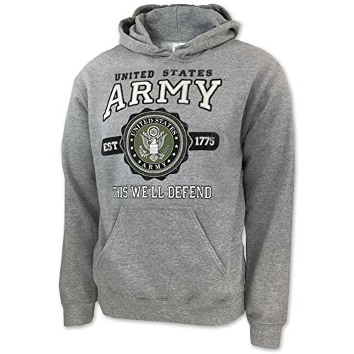 Seal Hoody Sweatshirt - Army Vintage Seal Hood, medium, grey