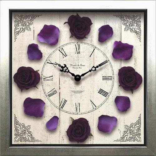 JIG 掛け時計Classique Rose Clock(クラシック ローズ クロック) Purple CRC-51505 B00O0T5SPE