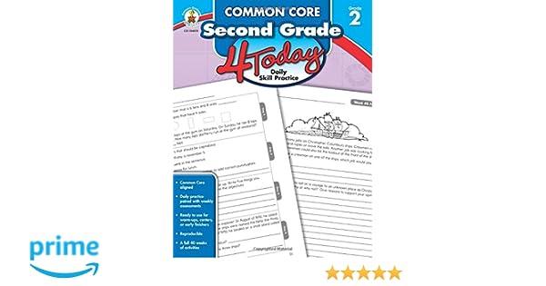 Amazon.com: Common Core Second Grade 4 Today: Daily Skill Practice ...