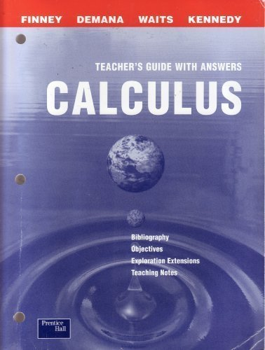 Calculus: graphical, numerical, algebraic, Teacher's resource Package PDF