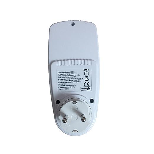 3 opinioni per JZK® 2 PZ Misuratore di corrente presa di misuratore di consumo dell'energia