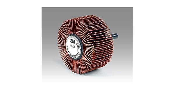 60 Grit 3M Flap Wheel Type 83 747D 2-1//2 Diameter 2-1//2 Diameter 1 Width 00051144807642 1 Width Shaft Attachment Pack of 10 25000 rpm Ceramic Grain