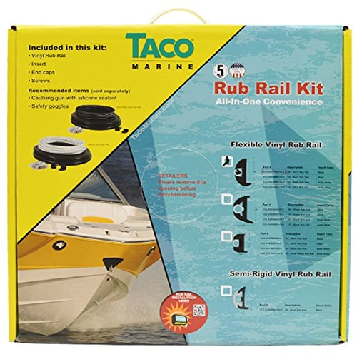 Taco Boat Rub Rail V11-2423BBK50-2 | Flexible 1 7/8 Inch x 50 Ft
