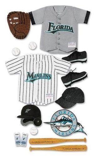 EK Success MLB Florida Marlins 3D Uniform Sticker Set MLBJB026 Baseball Jolee's ##cool92064