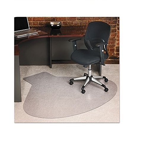 ES Robbins 122775 EverLife Chair Mats For Medium Pile Carpet, Contour,  66 x 60, Clear by ES Robbins