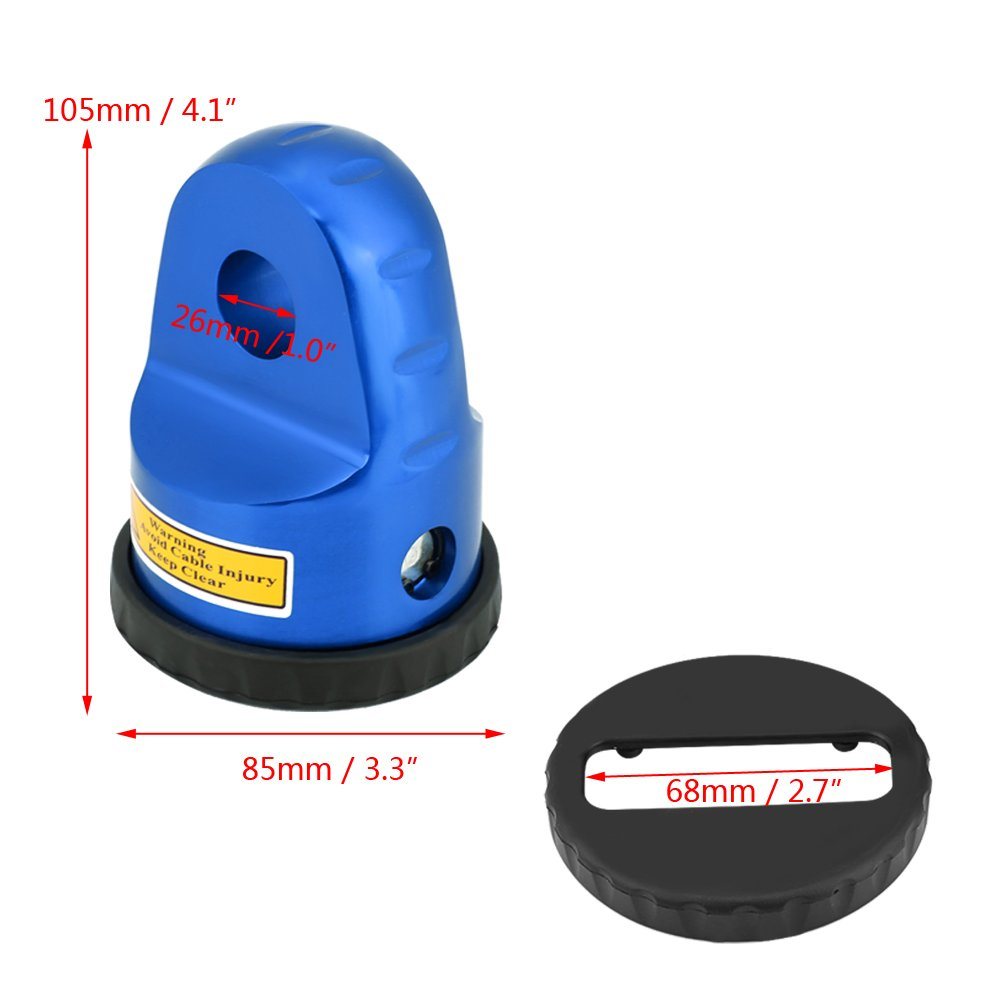 Blue Winches Up to 6,000 Lbs VGEBY Loaded Winch Shackle Mount