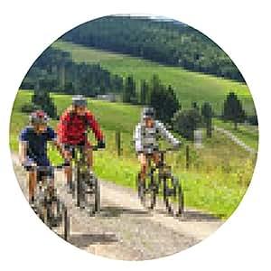 alfombrilla de ratón El ciclismo de montaña - ronda - 20cm