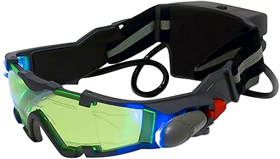 ALLOMN Spy Night Vision Goggles with Flip-Out, Adjustable Kids LED Night Green Lens Glasses for Hunting Racing Bicycling: Amazon.ca: Clothing & Accessories