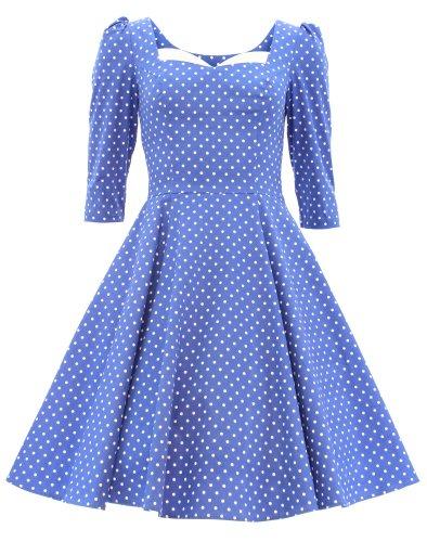 H&R London - Vestido - para mujer Azul