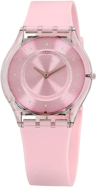 Amazon Com Swatch Skin Quartz Movement Pink Dial Unisex Watch