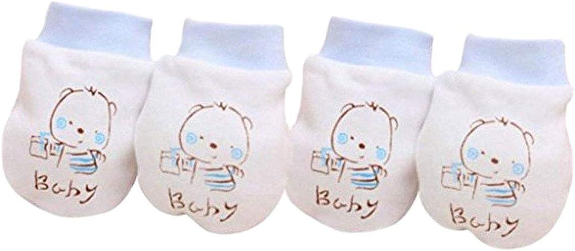 Crasy Shop Cartoon Niedlichen Baby Baumwolle Handschuhe Kratzfest Baumwollhandschuhe Neugeborenen Handschuhe 2 Paar