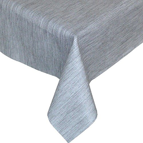 Tony's Textiles Plastic Reusable Tablecloth Wipeable PVC Vinyl Party Garden Kitchen Kids Gray Textured Rectangle (180 x 137cm) from Tony's Textiles