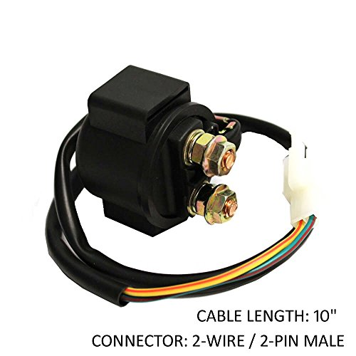 Starter Solenoid Relay GY6 Engine - PREMIUM 4-Stroke Parts for Gas Scooters like Honda, Dirt Bikes, TaoTao, Jonway, ATV's, Quads, 50cc 70cc 90cc 110cc 125cc 150cc 200cc 250cc Scooters Clones Starter