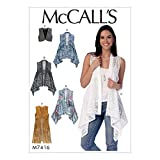 MCCALLS M7416 Y MISSES VEST SIZE LARGE-XLARGE-XXLARGE SEWING PATTERN