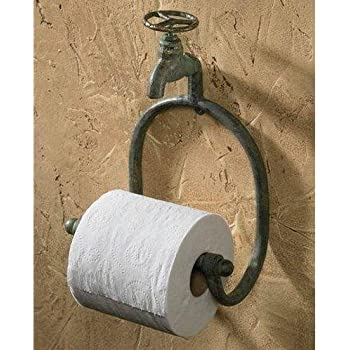 Park Designs Water Faucet Toilet Tissue Holder Green Patina