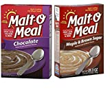 Malt O Meal Variety Pack. Chocolate Along With Maple and Brown Sugar Flavors. Convenient one Stop Shopping for The Best in Hot Breakfast Cereals. Who Doesnt Love a Hot, Nutritious Breakfast!
