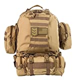 Tactical Backpack - Paratus 3 Day Operator's Pack (Coyote Tan) Military Style MOLLE Compatible Tactical Backpack