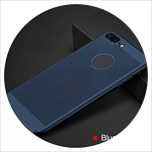 Heat Dissipation Protective Case for iPhone 7 6 6S 8 Plus Xs Max Cool Back Cover Case for iPhone Xs Xr X Xs max Phone Case Shell,Blue,for iPhone Xs ()