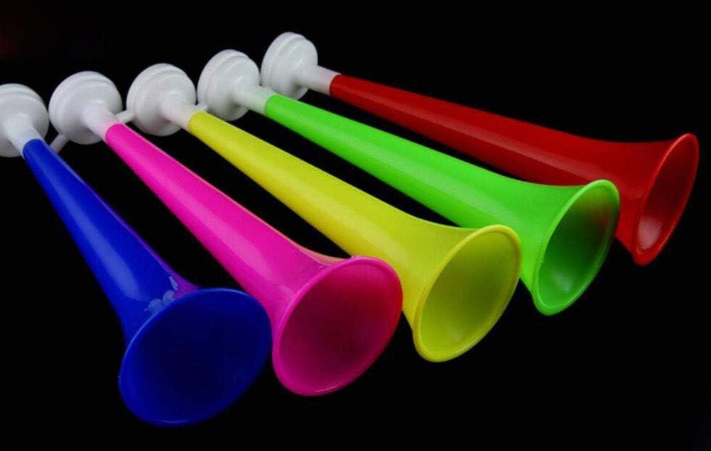Black Temptation Juego de 6 Plastico Vuvuzela Stadium Horn Noise Maker para Juegos de Fútbol [A]: Amazon.es: Juguetes y juegos
