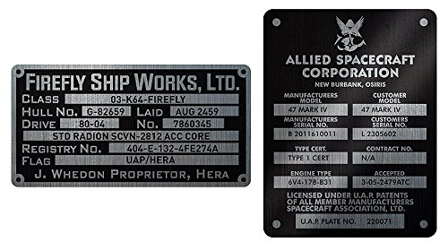QMx Firefly Builder's Plaques Metalized Sticker ()
