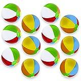Sol Coastal SBEA-12 Classic 6-Color Inflatable Beach Balls, Pack of 12