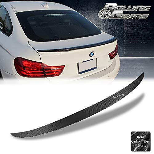 Rolling Gears Real Carbon Fiber Rear Trunk Spoiler Fits BMW F36 4-Series Gran Coupe, Performance
