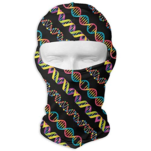 - Queendesign Colorful DNA Science Balaclava Windproof Ski Face Mask Winter Motorcycle Neck Warmer Tactical Hood for Women MenSnowboard Cycling Hat Outdoors Helmet Liner