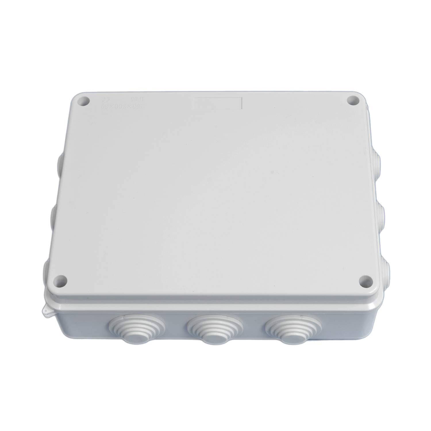 LoveDeal 10'' x 7.9'' x 3.1''(255mmx200mmx80mm) ABS Junction box, Universal Electrical Power Project Enclosure, CCTV Project Case, 12 Way, Dustproof Waterproof IP65, perfect for Indoor & Outdoor