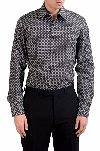Prada Long Sleeve Dress Shirt - Prada Men's Long Sleeve Dress Shirt US 15.75 IT 40