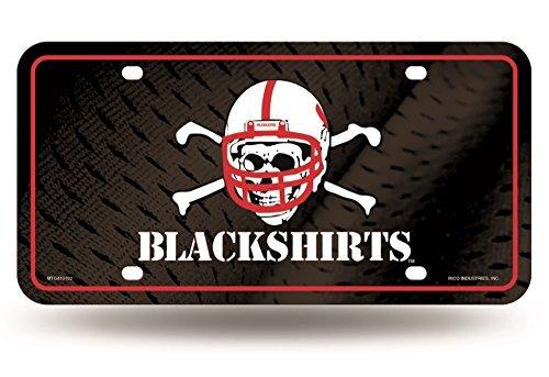 Rico NCAA Nebraska Cornhuskers Blackshirts Metal Tag License Plate