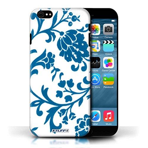 Etui / Coque pour Apple iPhone 6/6S / Fleurs Bleue conception / Collection de Motif floral