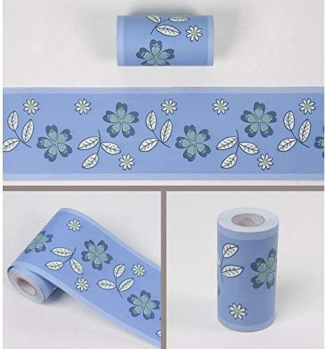 壁紙 レンガ 防音シート 防水 壁紙 断熱 DIYクッション シール シート立体 壁用 壁紙 はがせ 青花の葉の壁紙ボーダー自己接着ウォールカバリングボーダーキッチンバスルームのタイルインテリアステッカー壁紙装飾壁装飾材
