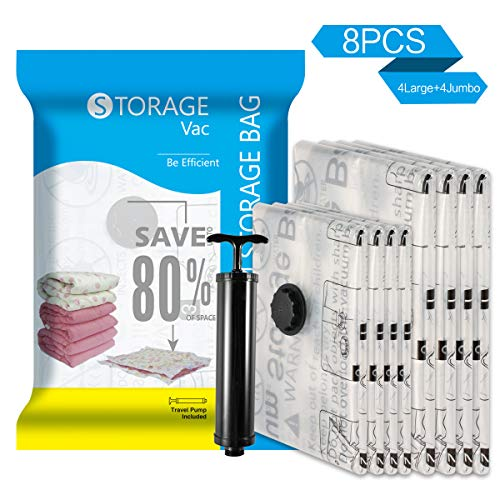 Premium Vacuum Storage Bags 8 Pack (4 x Large, 4 x, used for sale  Delivered anywhere in USA