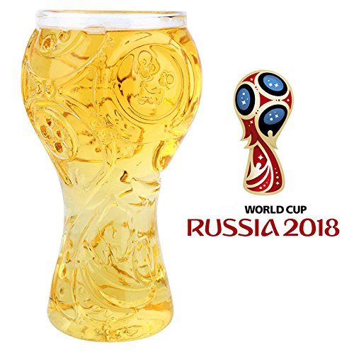 Beer Glasses 2018 Russia FIFA World Cup High-Borosilicate Glass Mug 40cl/400ml for Men Soccer Mug
