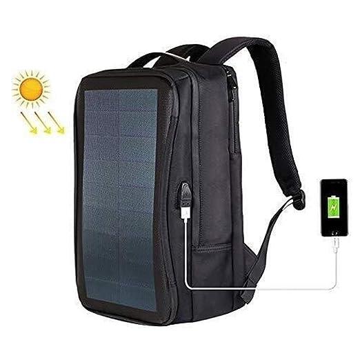 Mochila For Computadora Portátil Con Energía Solar Cargador Usb ...